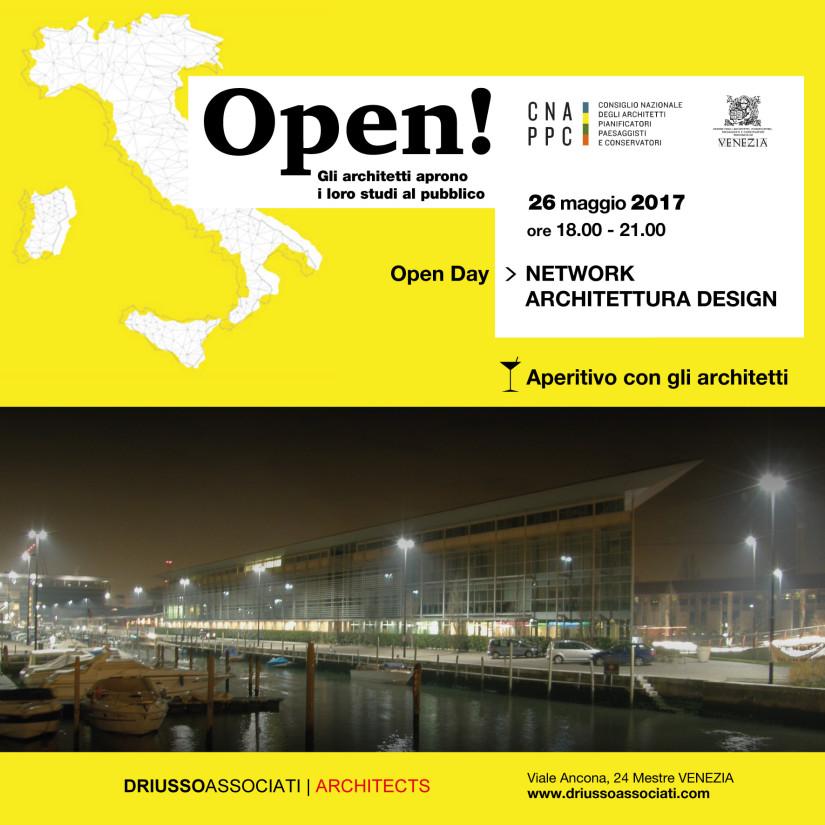 OPEN! OPEN DAY ARCHITETTURA E DESIGN 26/5/2017