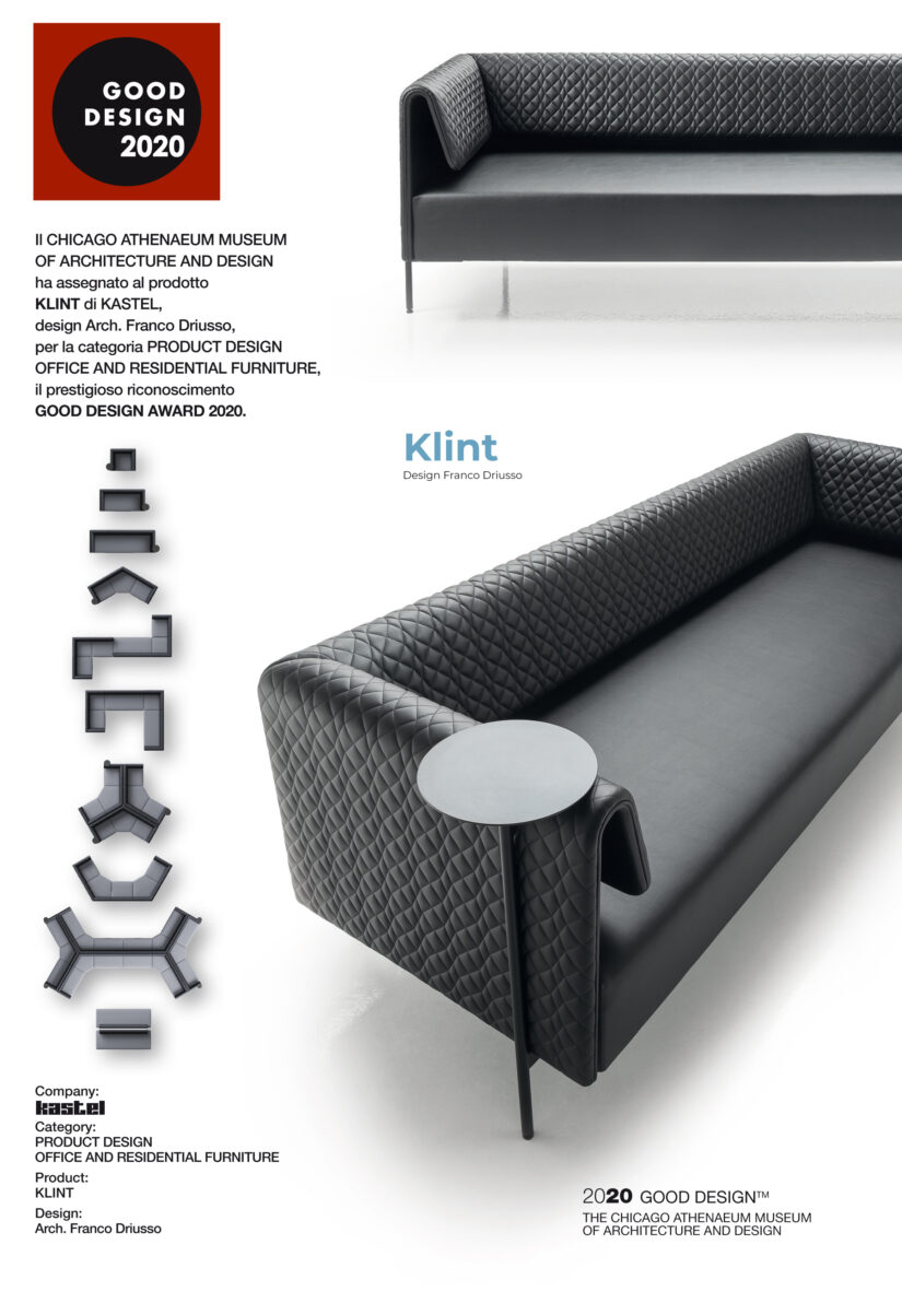 Klint vince il GOOD DESIGN AWARD 2020